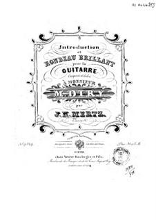 Introduction and Rondo Brilliant, Op.11: Para Guitarra by Johann Kaspar Mertz