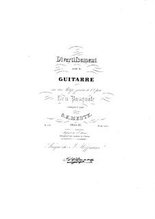 Divertissement on Theme from 'Don Pasquale' by Donizetti , Op.15: Para Guitarra by Johann Kaspar Mertz