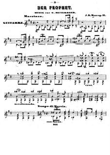 Transcription on Theme from 'The Prophet' by Meyerbeer, Op.21: Transcription on Theme from 'The Prophet' by Meyerbeer by Johann Kaspar Mertz