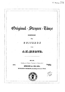 Original Steyrer Tänze, Op.33: Für Gitarre by Johann Kaspar Mertz
