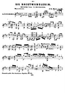 Die Nachtwandlerin, Op.35: Für Gitarre by Johann Kaspar Mertz