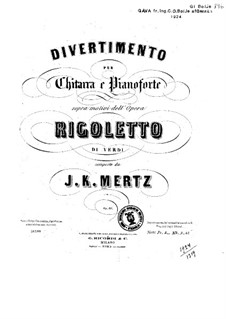 Divertissement on Theme from 'Rigoletto' by Verdi, Op.60: Partes by Johann Kaspar Mertz