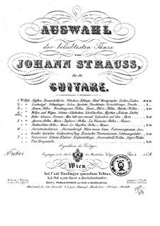 Selection of the most popular dances by Johann Strauss: Book 4 by Josef Strauss