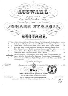 Selection of the most popular dances by Johann Strauss: Book 6 by Josef Strauss