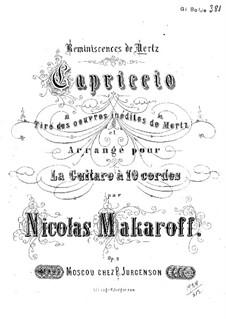 Capriccio: Para Guitarra by Johann Kaspar Mertz