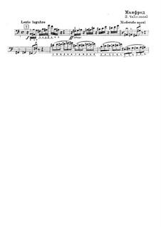 Manfred Symphony, TH 28 Op.58: parte solo para contrabaixo by Pyotr Tchaikovsky