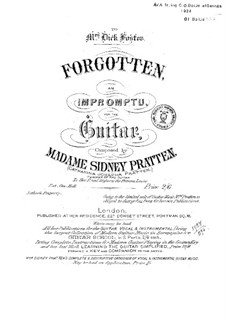 Forgotten an Impromtu. Songs without words and sketches: Forgotten an Impromtu. Songs without words and sketches by Catharina Josepha Pratten