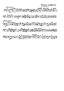 Symphony No.2 in F Sharp Minor, Op.16: parte para contrabaixo(Fragmento) by Alexander Glazunov