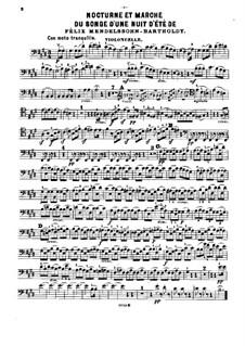 Nocturne and Wedding March: Para trio de piano - parte em violoncelo by Felix Mendelssohn-Bartholdy