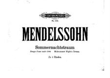 Incidental Music to Shakespeare's Play: para piano de quadro mãos by Felix Mendelssohn-Bartholdy