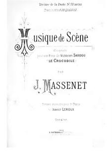 Le crocodile: arranjo para piano by Jules Massenet