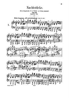 Night Pieces, Op.23: set completo by Robert Schumann