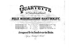 String Quartet No.6 in F Minor, Op.80: versão para piano de quatro mãos by Felix Mendelssohn-Bartholdy