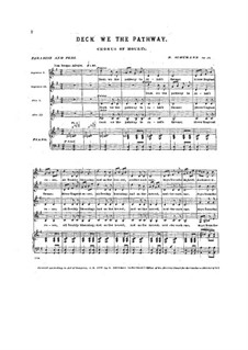 Paradise and the Peri, Op.50: Deck We the Pathway by Robert Schumann
