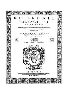 Ricercate, passaggi et cadentie: Ricercate, passaggi et cadentie by Giovanni Bassano