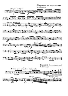 Overture on Three Russian Themes: parte para contrabaixo(Fragmento) by Mily Balakirev