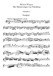 Complete Opera: violinos parte I by Richard Wagner