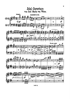 Jubilee Overture, J.245 Op.59: For harmonium, violin and piano – harmonium part by Carl Maria von Weber