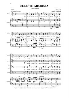 Celeste armonia  (A Christmas Carol): Celeste armonia  (A Christmas Carol) by Renato Tagliabue