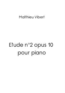 Etude No.2 pour piano en ré mineur, Op.10: Etude No.2 pour piano en ré mineur by matvib1983