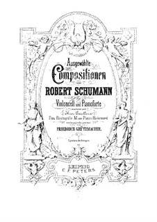 Four Marches, Op.76: No.4 March, for cello and piano by Robert Schumann