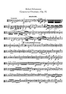 Genoveva, Op.81: Abertura - parte viola by Robert Schumann