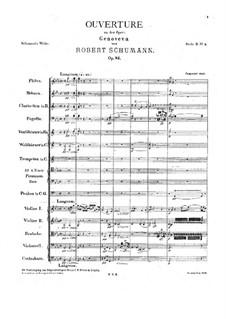 Genoveva, Op.81: abertura by Robert Schumann