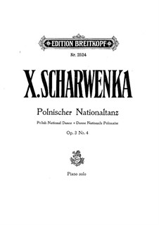 Polish National Dances, Op.3: eletronica No.4 by Xaver Scharwenka