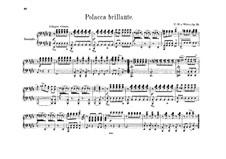 Polonaise Brilliant, J.268 Op.72: para piano de quadro mãos by Carl Maria von Weber