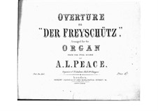 Overture: para orgãos by Carl Maria von Weber