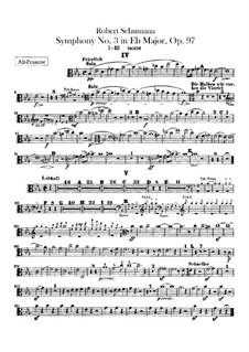 Symphony No.3 in E Flat Major 'Rhenish', Op.97: parte trombones by Robert Schumann