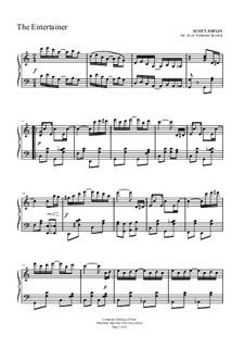 The Entertainer, for Piano: para um único musico (Editado por H. Bulow) by Scott Joplin