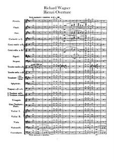 Rienzi, the Last of the Tribunes, WWV 49: abertura by Richard Wagner