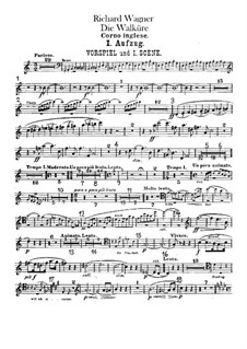 The Valkyrie , WWV 86b: Cor anglais part by Richard Wagner