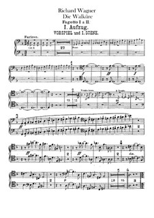 The Valkyrie , WWV 86b: Bassoons I, II part by Richard Wagner