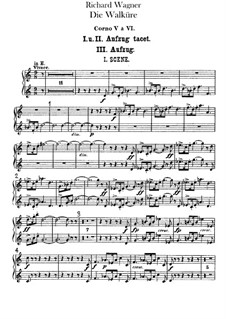 The Valkyrie , WWV 86b: French horns V-VIII parts by Richard Wagner