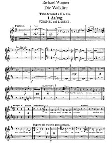 The Valkyrie , WWV 86b: Tubas parts by Richard Wagner
