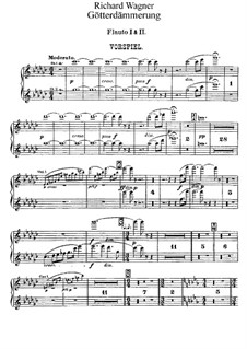 Twilight of the Gods, WWV 86d: parte de flautas by Richard Wagner