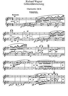Twilight of the Gods, WWV 86d: clarinetas parte I-II by Richard Wagner
