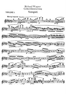 Twilight of the Gods, WWV 86d: violinos parte I by Richard Wagner