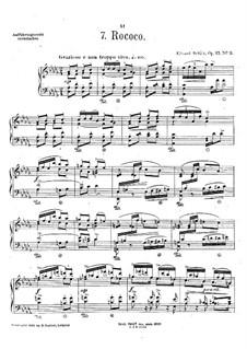 Pieces for Piano, Op.17: No.3 Rococo by Eduard Schütt