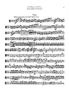 Overture: parte violas by Carl Maria von Weber
