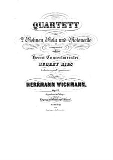 String Quartet in E Minor, Op.12: Quarteto de cordas em E menor by Hermann Wichmann