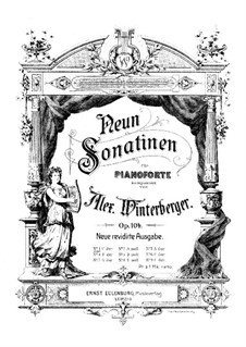 Sonatina for Piano No.1, Op.104: Sonatina for Piano No.1 by Alexander Winterberger