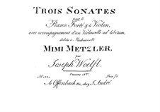Three Sonatas for Piano Trio, Op.16: parte piano by Joseph Woelfl