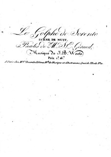Le golfe de Sorrento, for Voice and Piano (or Harp): Le golfe de Sorrento, for Voice and Piano (or Harp) by Joseph Bernard Woets