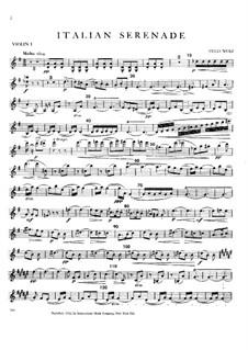 Italian Serenade for String Quartet: partes by Hugo Wolf