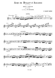 Ascanio: Airs de ballet, for Flute and Piano by Camille Saint-Saëns