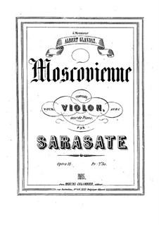 Moscovienne, Op.12: Score by Pablo de Sarasate