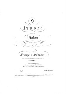Nine Etudes for Violin: Nine Etudes for Violin by Franz Schubert